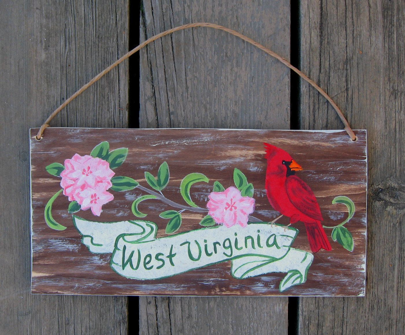 West Virgina State Bird Amp Flower Sign