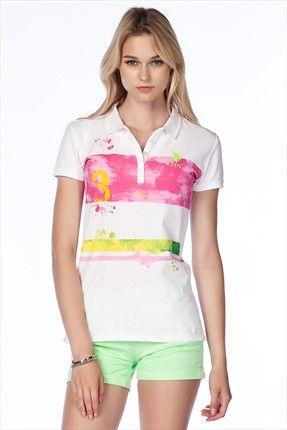 Bayan Polo Yaka T Shirt G082dc011 P10 Jy3345 Moda Stilleri Trendler Polo
