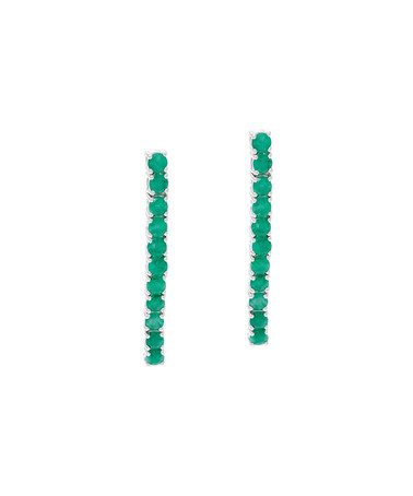Another great find on #zulily! Emerald & Sterling Silver Drop Earrings #zulilyfinds
