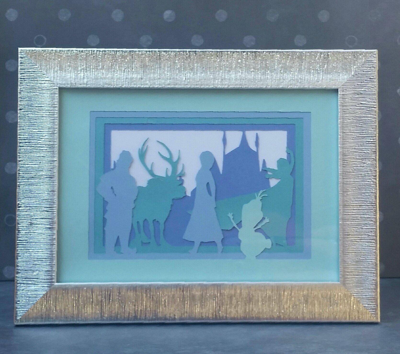 Disney Frozen Cut Paper Movie Scene Collage Fan Art by ...
