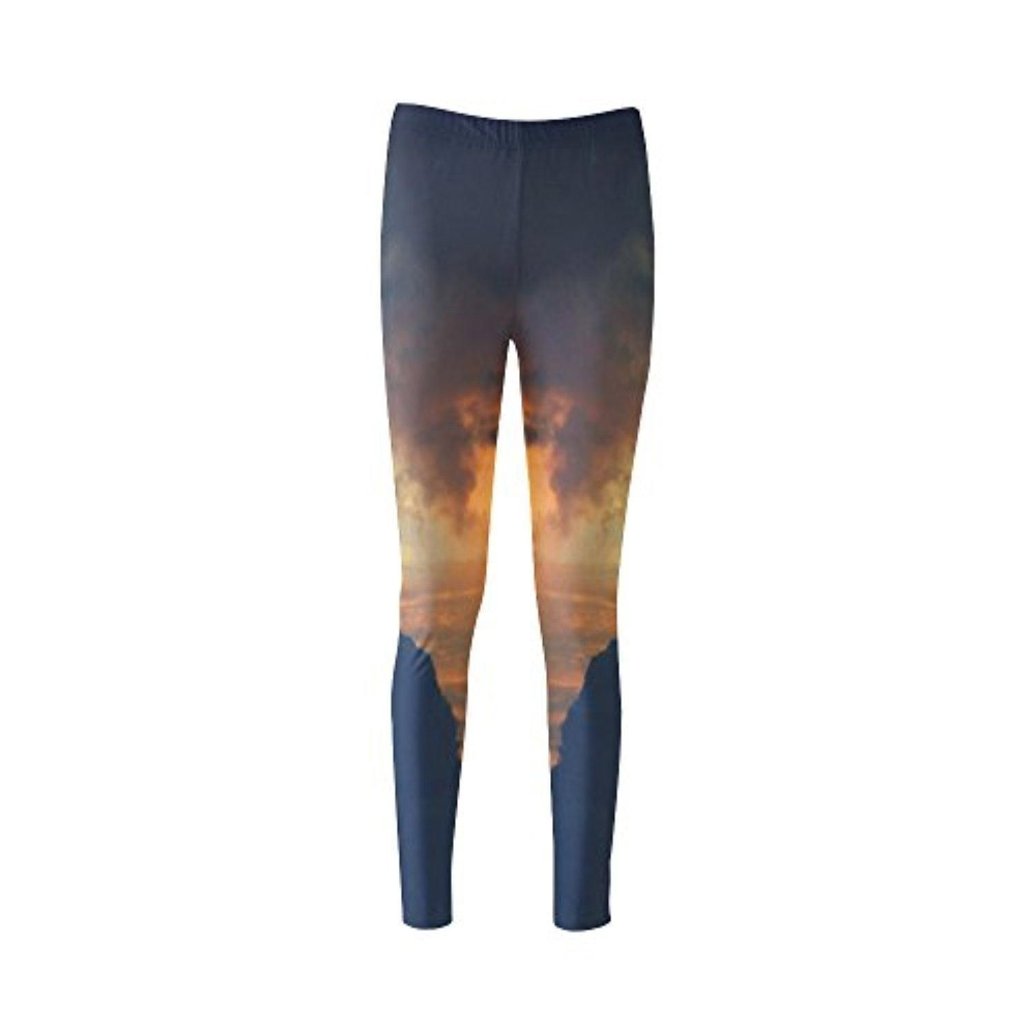 Custom Clouds Women's Leggings Polyamide Material - Brought to you by Avarsha.com