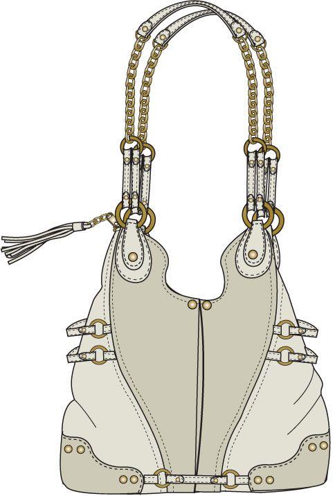 Shoulderbag sketch   Аксесуары   Pinterest   Handtasche nähen, Leder ...