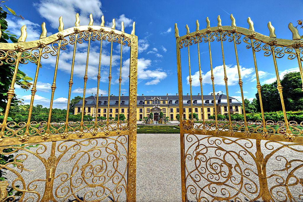 Das Goldene Tor Herrenhauser Garten Hannover Niedersachsen Hq Deutschland Burg Und Hannover