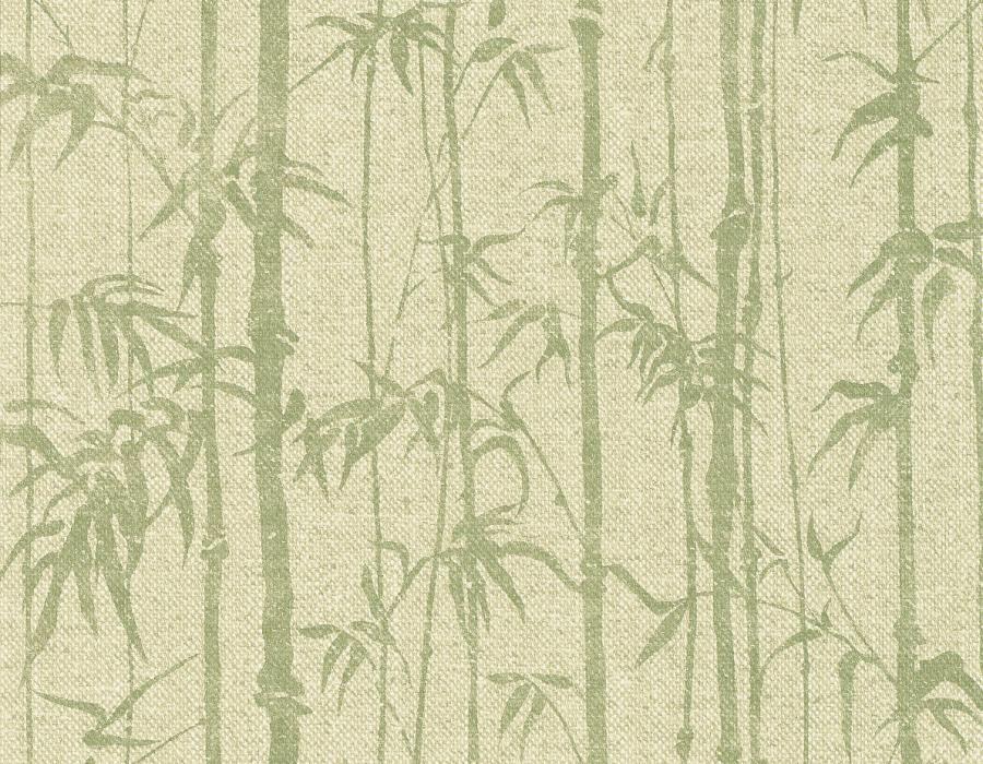 Aldo Verdi Carta Da Parati.Parato Orientale Naturae 30525 Con Canne Di Bamboo Verde Su Fondo