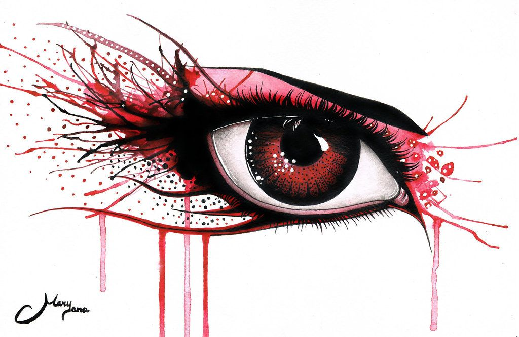 Red Stare by *MaryYana on deviantART
