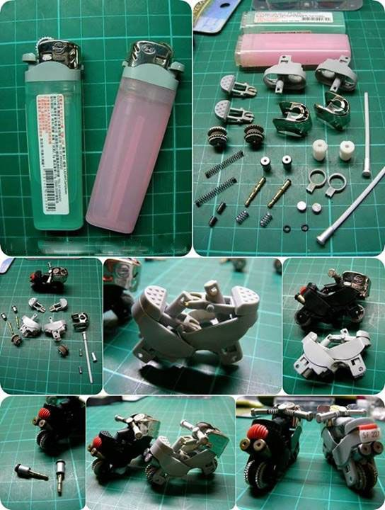 Making cigarette lighter motorcycle!!