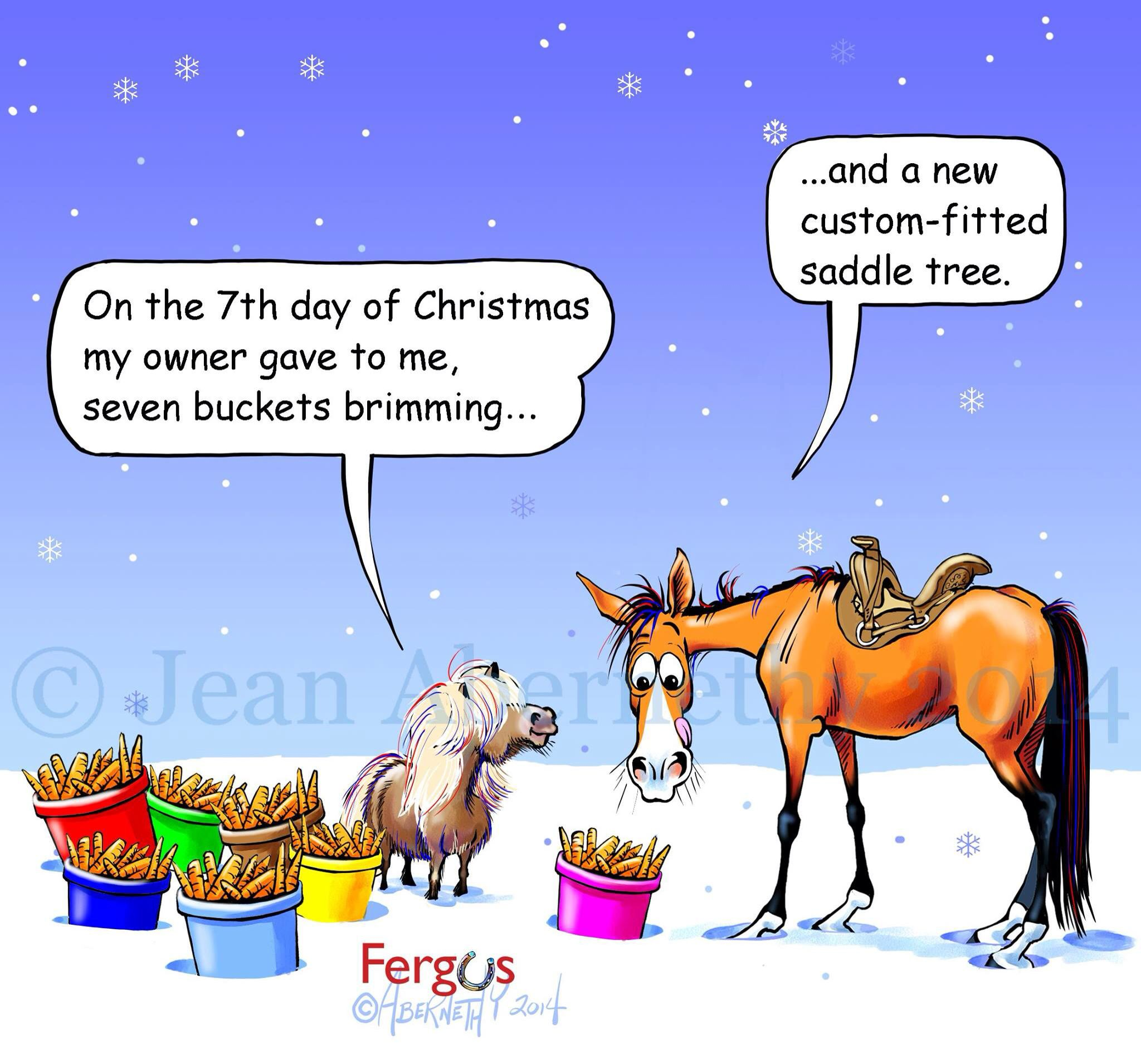 Christmas Horse Cartoon.Pin By Ascha On Fergus Christmas Horses Horse Cartoon