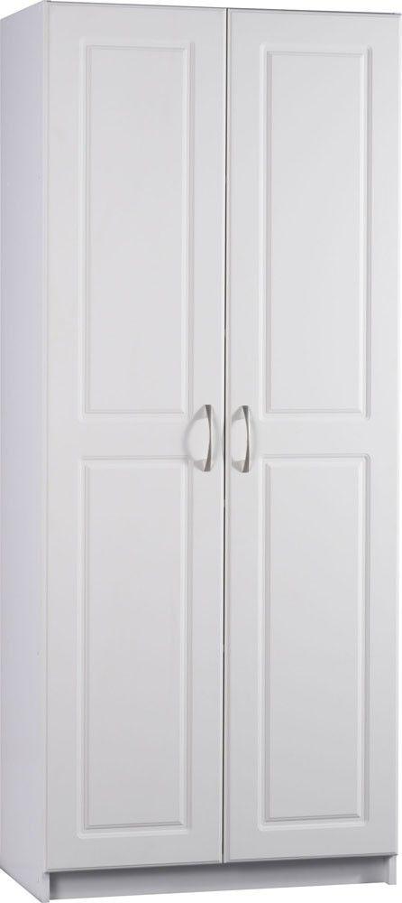 White Kitchen Storage Pantry   Ameriwood Industries   7344015Y