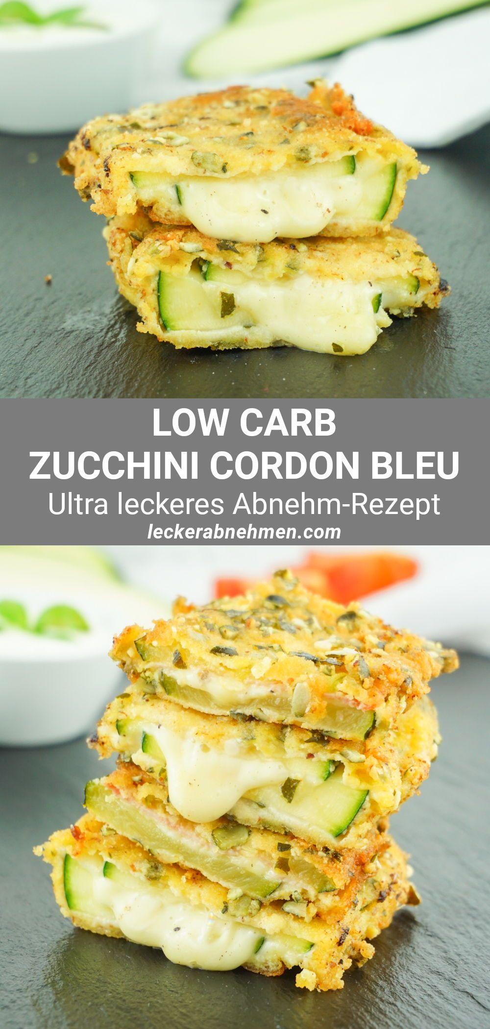 Zucchini Cordon Bleu - Vegetarisches oder klassisches Low Carb Rezept
