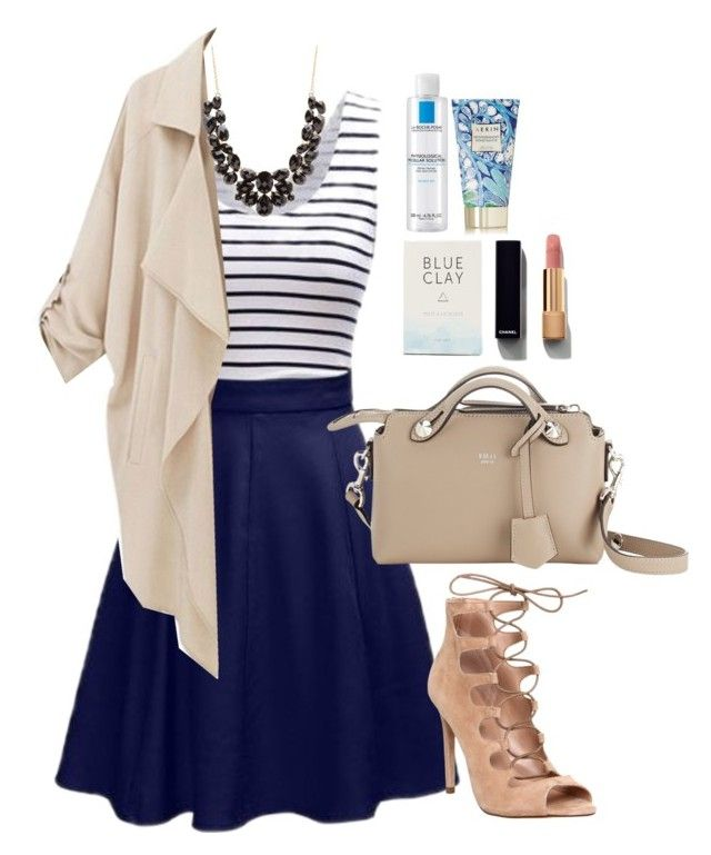 """""""Untitled #203"""" by thatgirlwholovesit on Polyvore featuring Office, Fendi, Chanel, Charlotte Russe, Herbivore, La Roche-Posay and AERIN"""