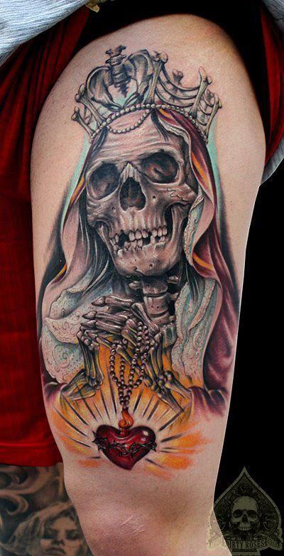 Tatuajes de la santa muerte significado y su historia | tat ...