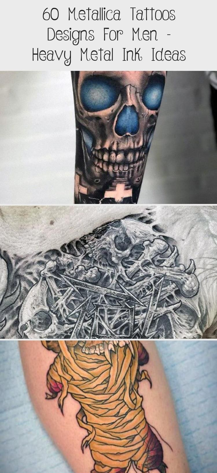 60 Metallica Tattoos Designs For Men - Heavy Metal Ink