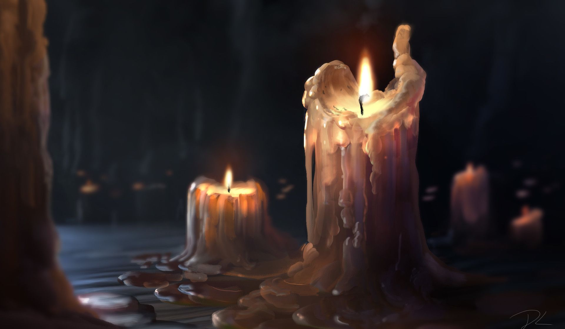 Image: 'Dripping Wax Candles' by Denis Loebner
