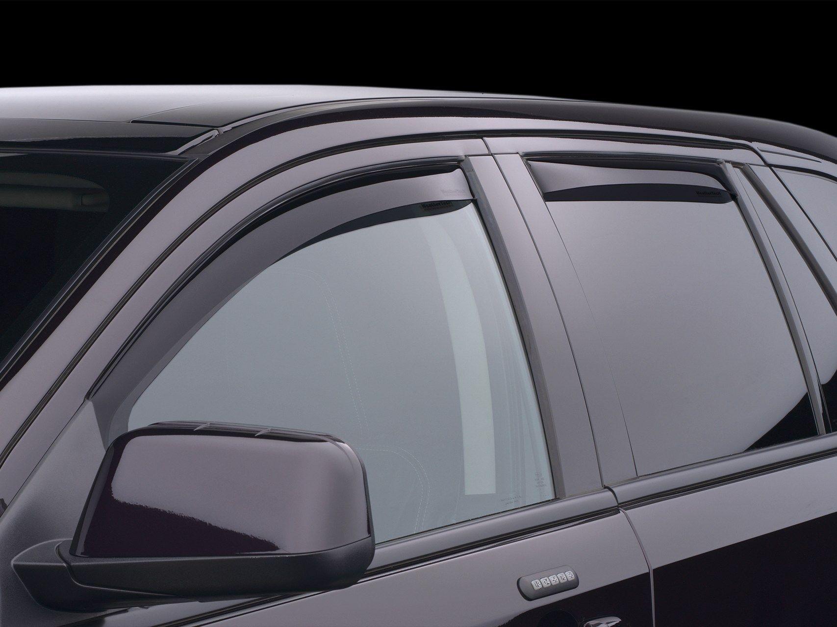 WeatherTech Custom Fit Front /& Rear Side Window Deflectors for Honda Accord Dark Smoke