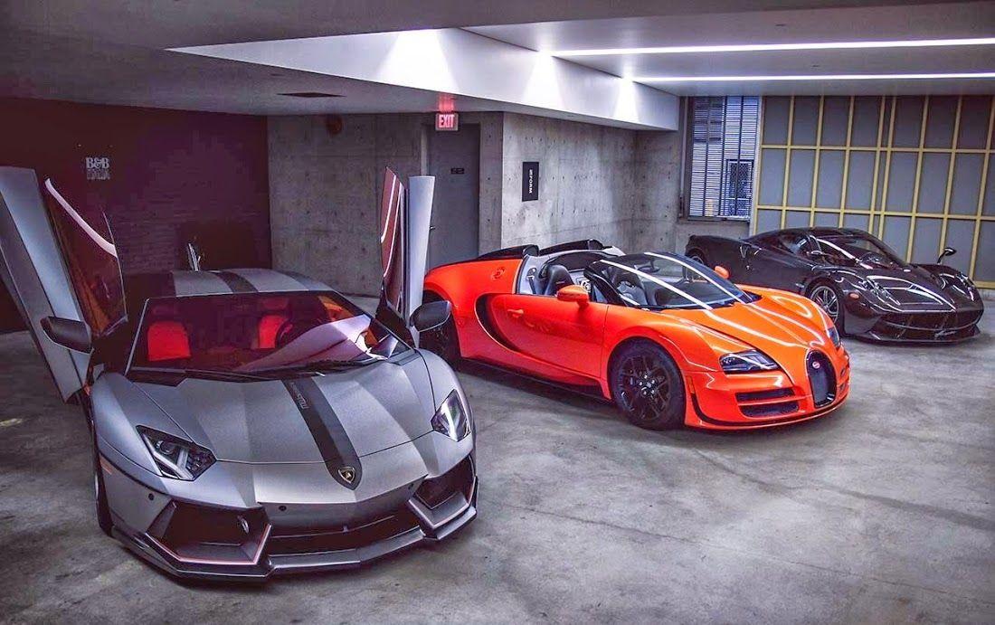 Super car garage lamborghini aventador bugatti veyron for Garage credit auto 0