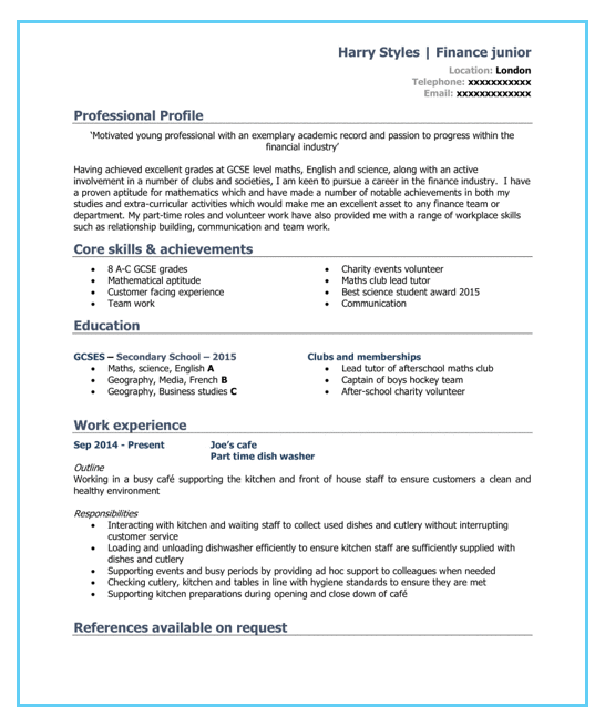 Student Cv Template And Examples School Leaver Graduate Cv Template Student Cvtemplatestudent Cv Template Student Cv Template Student