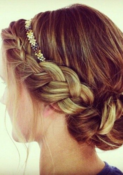 Whimsical braids add a magical touch to any look!
