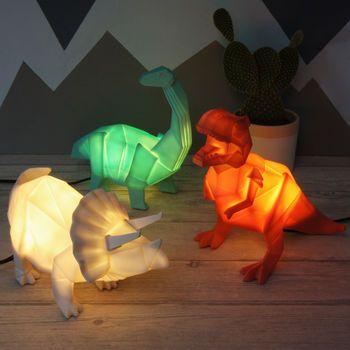 Photo of Origami Plug In Dinosaur Night Light