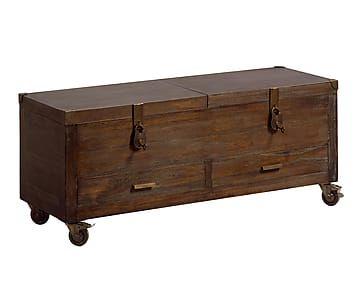 Ba l en madera de mindi con ruedas ba l pinterest - Baul madera barato ...