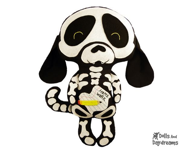Skeleton Dog Sewing Pattern Halloween by Dolls And Daydreams, via ...
