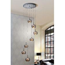 Neillsville 7 Light Cluster Pendant Clear Glass Lamps Buy Pendant Lights Light