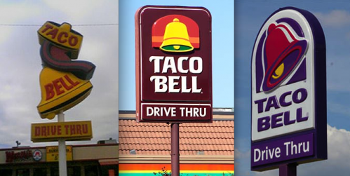 Taco Bell Redesigns Their Logo After 20 Years 1994 2016 Logo Rebrand Update Tacobell Logo Design Taco Bell Logo Bell Logo