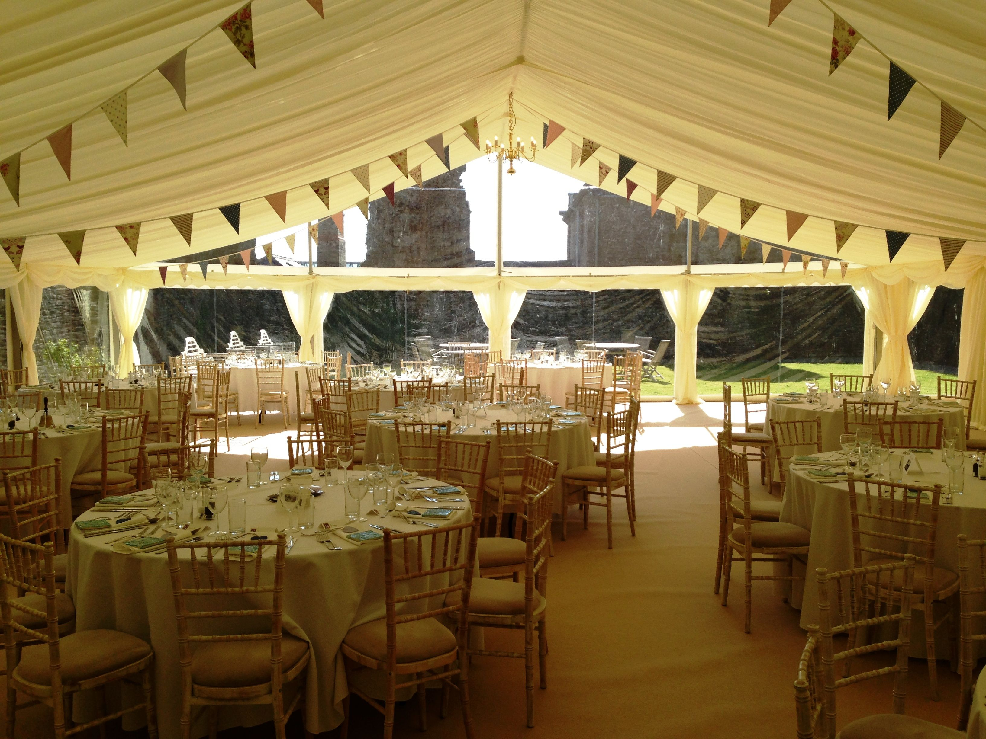 Wedding Marquee in Denbigh at the Castle House B&B in