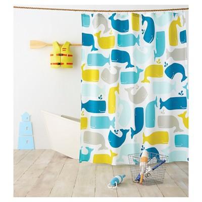 Whale Shower Curtain Amparo Blue