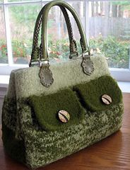 Photo of The Brookfield Bag, A Felted Handbag pattern by Carol Bristol