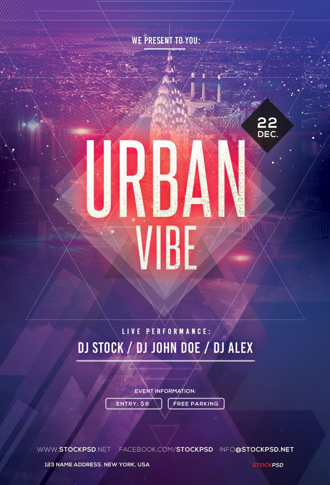 Urban Vibe Free Psd Party Flyer Template