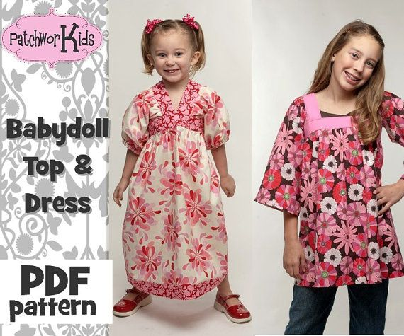 Baby Doll Top\\/Dress Girl, Baby Boutique Style Ebook Pattern ...