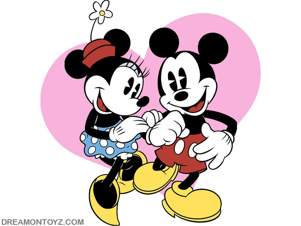 minnie mouse mickey wallpaper of mickey and minnie mouse with a pink heart minnie mouse. Black Bedroom Furniture Sets. Home Design Ideas