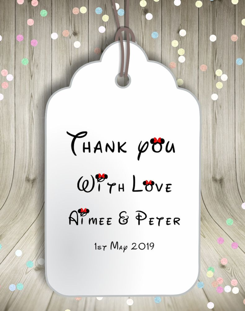Personalised Disney Font Thank You Hen Party Birthday Favour Gift ...