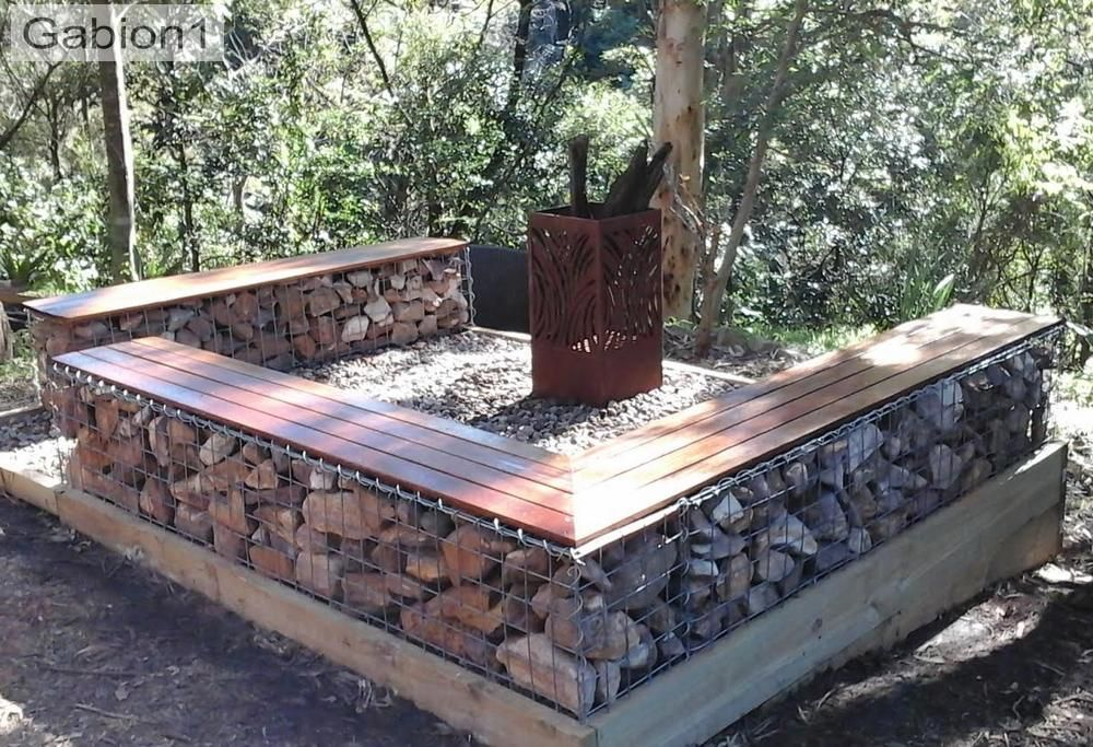gabion firepit seationg ideas   Fire pit seating, Gabion ...