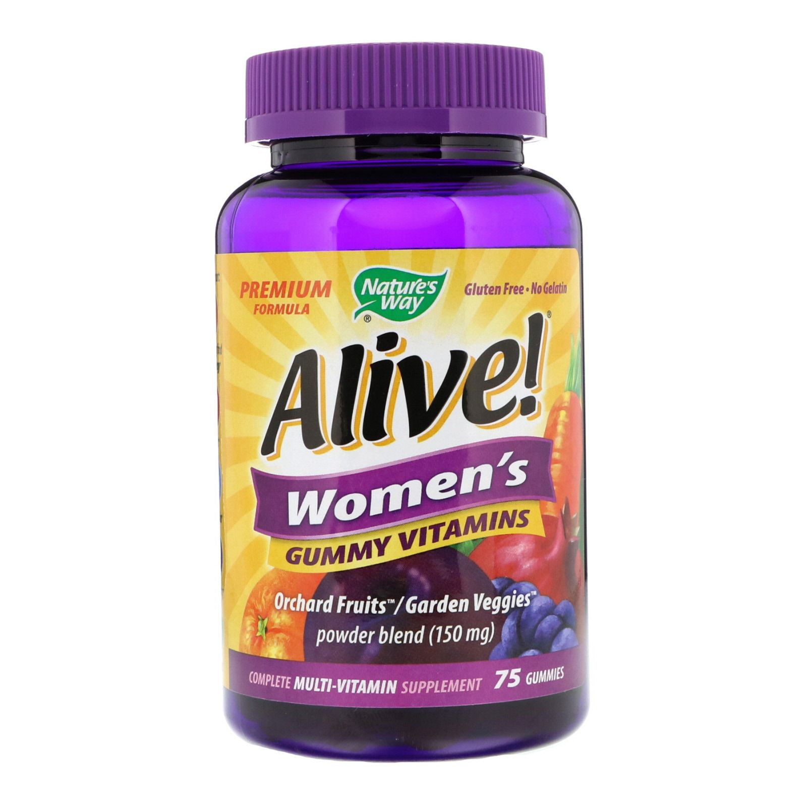 Nature S Way Alive أقراص مضغ فيتامينات متعددة للنساء 75 قرص Vitamins For Women Gummy Vitamins Vitamins