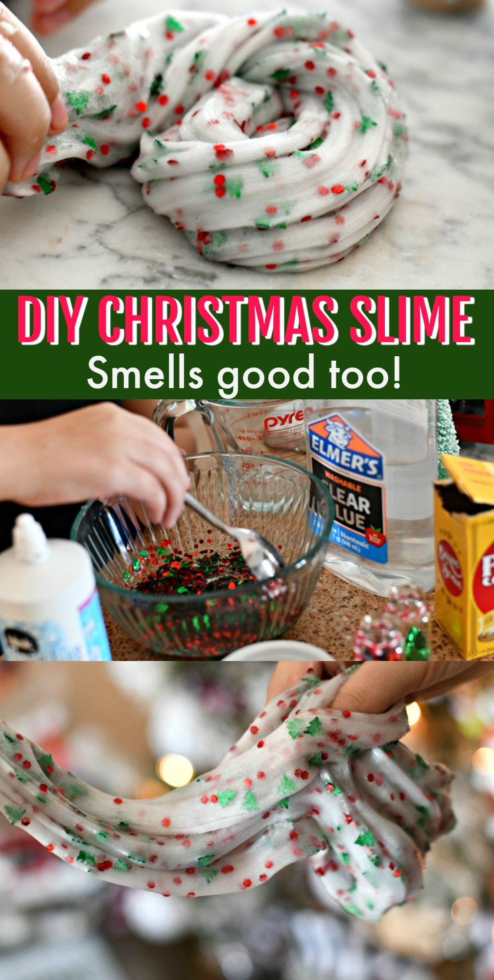 Make Christmas Tree Slime for the Holidays #diychristmasgifts