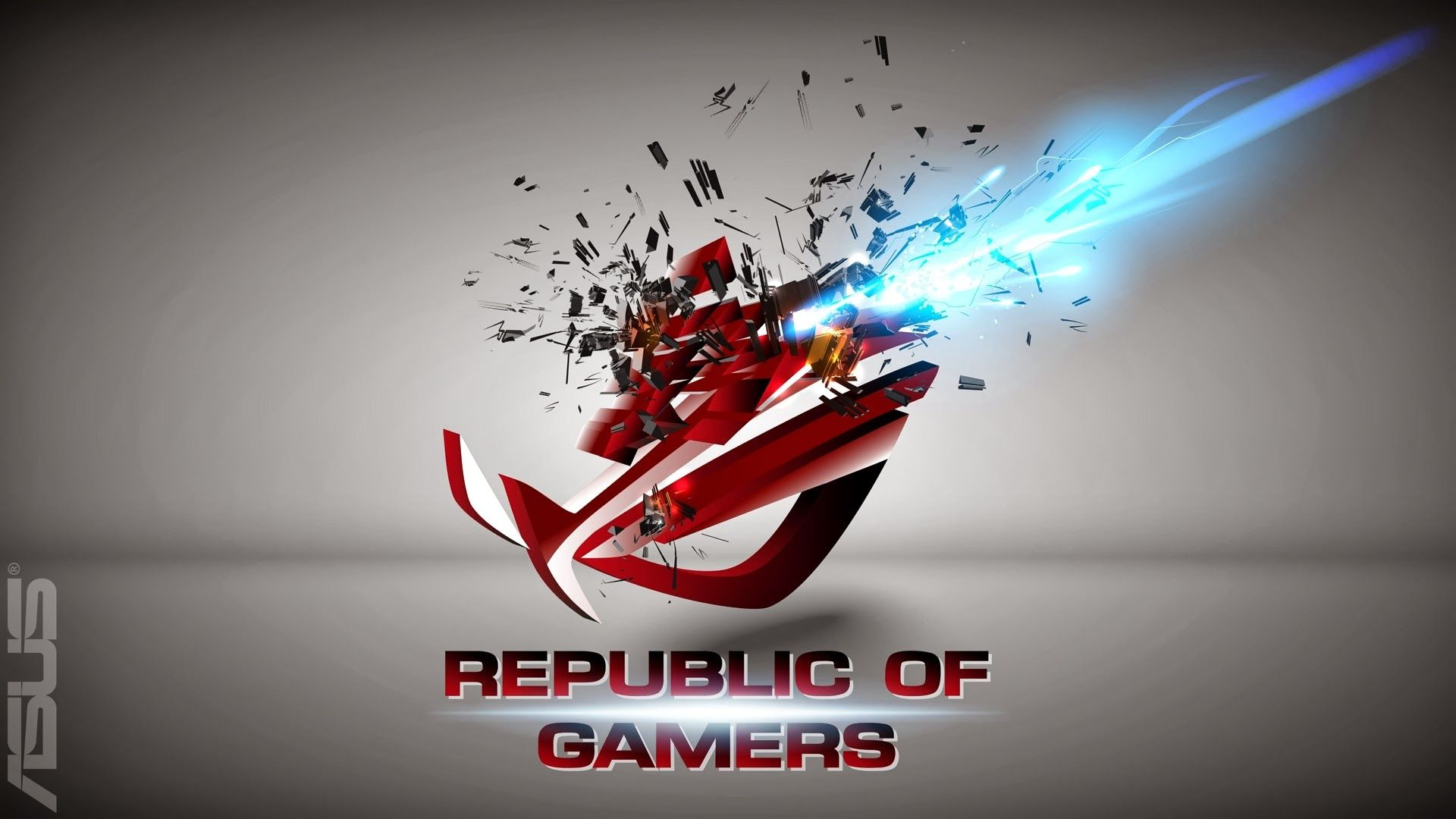 Pics photos rog blue background republic of gamers asus gamer asus - Cool Asus Rog Republic Of Gamers Hd Wallpaper