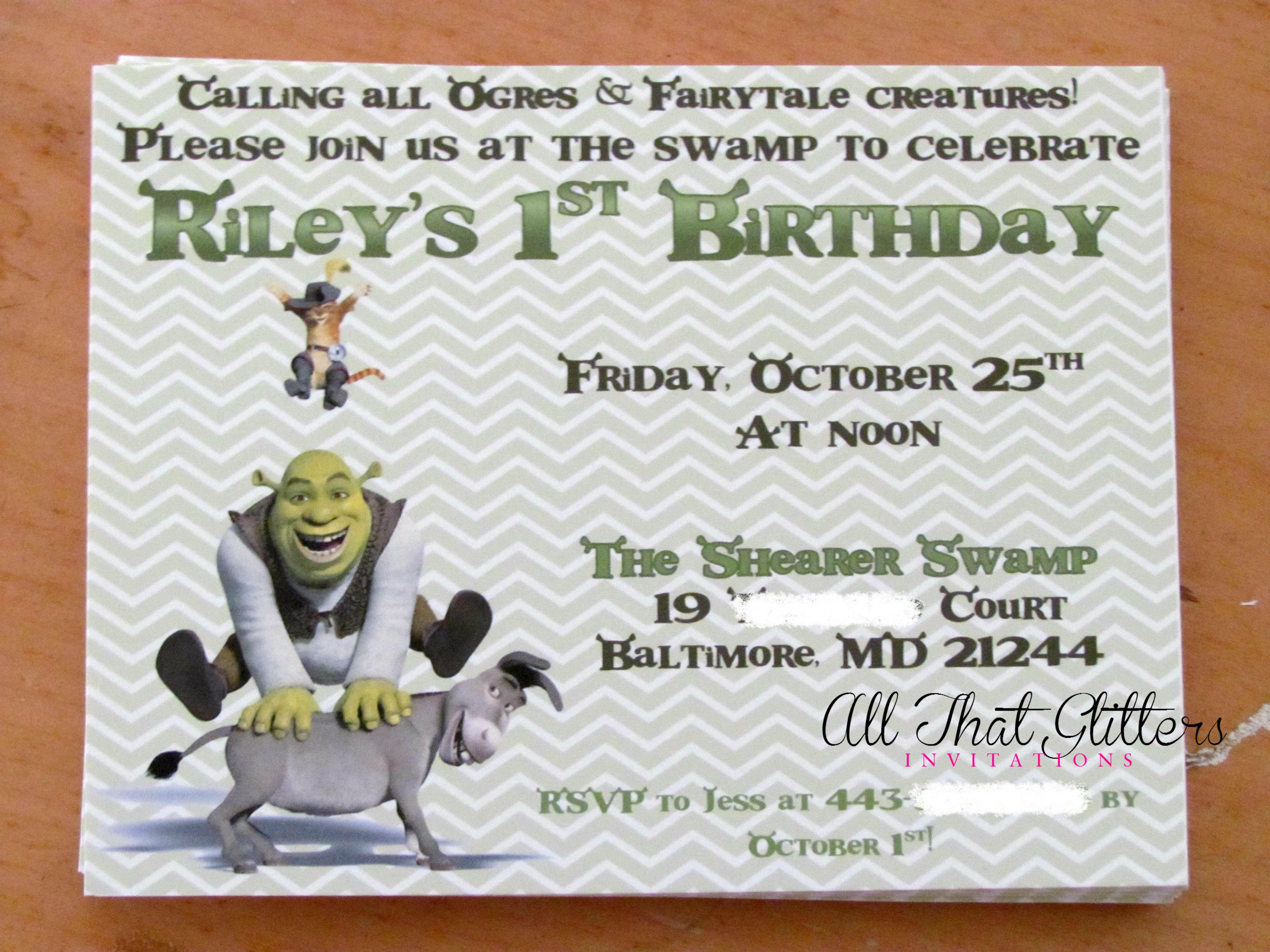 Offering Glitter Wedding Invitations & More | Micahs 1st bday ...