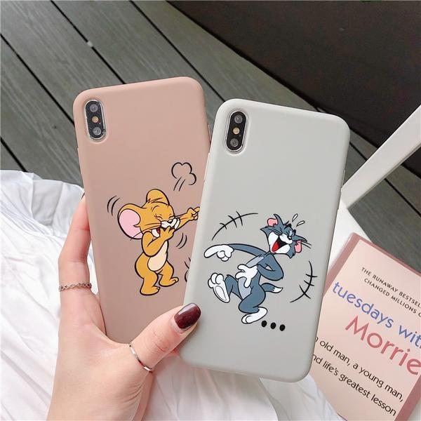 Cartoon Tom und Jerry für iPhone 6S 6 S 7 8 Plus Fall Fundas Silicon P – elega …   – Things I like