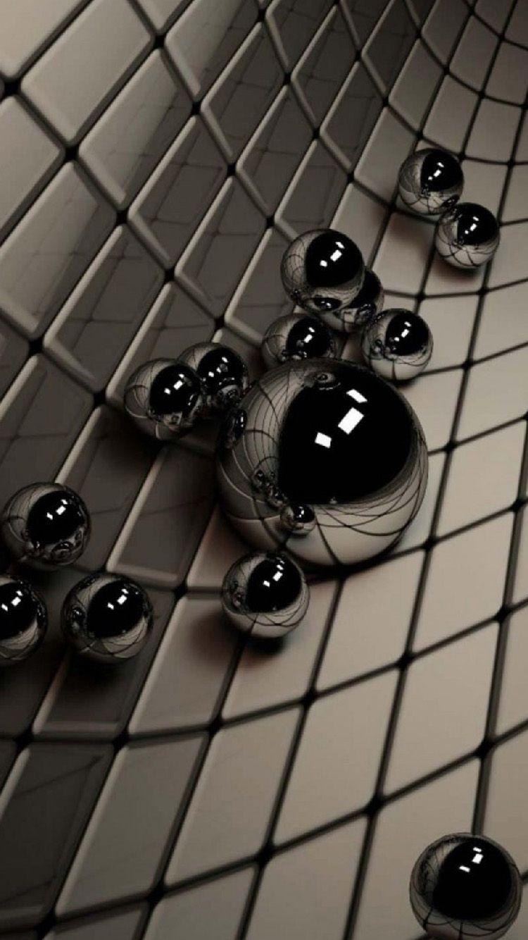 3D Black Ball IPhone 6 Wallpaper ...
