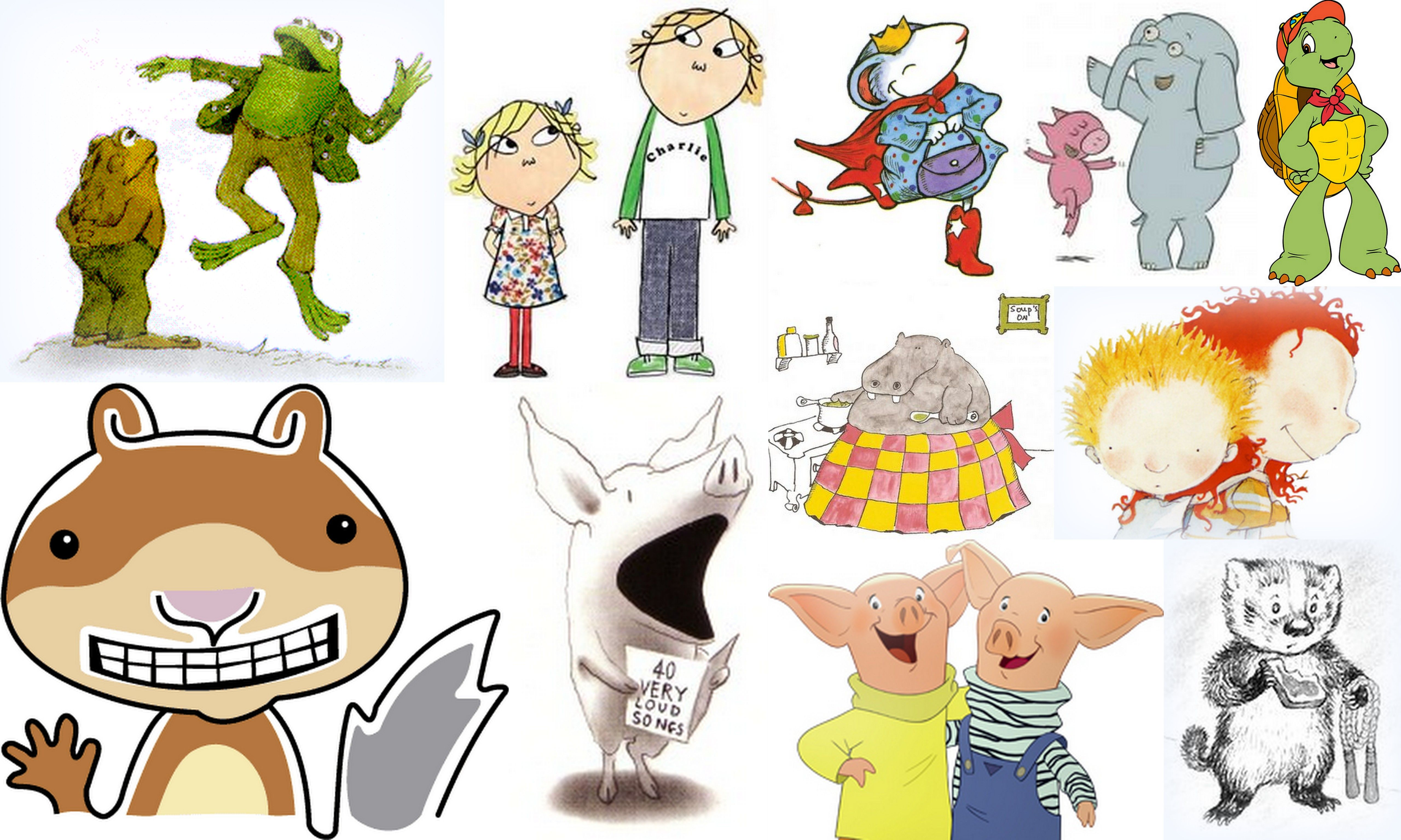 Popular book characters in picture books