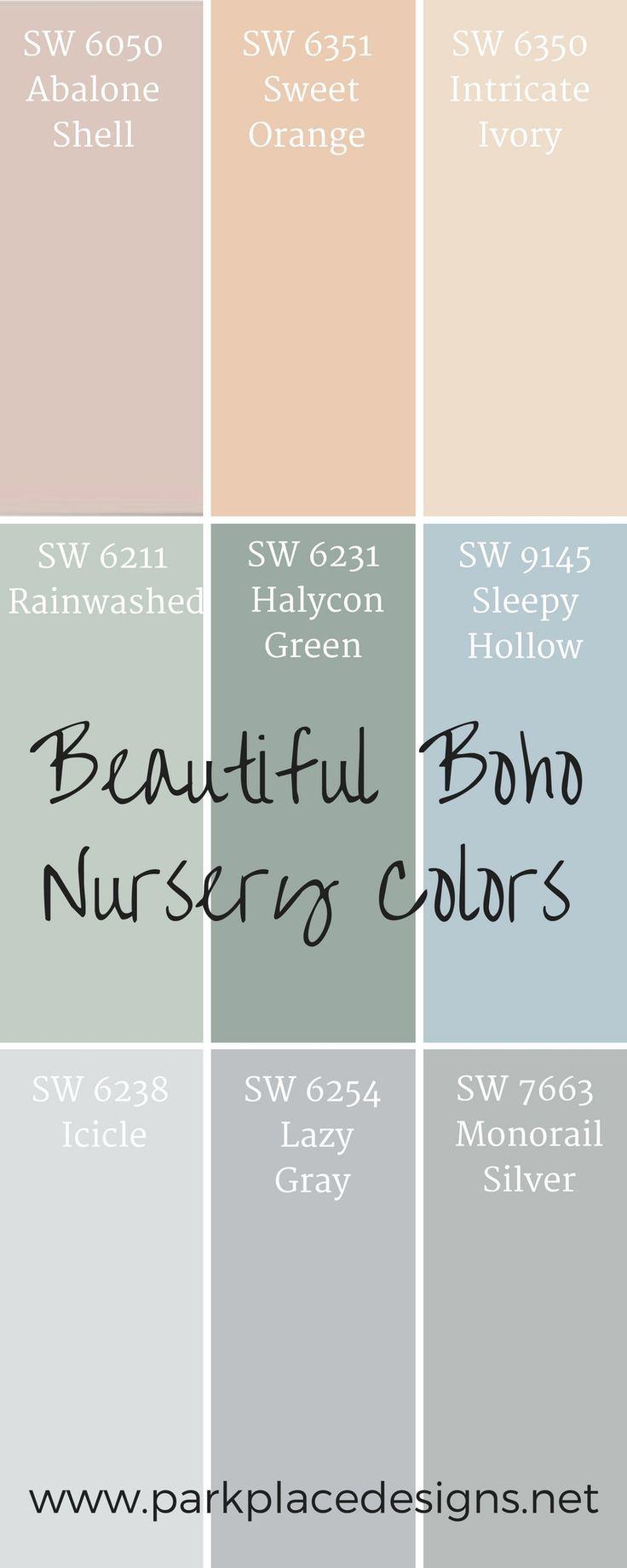 Sherwin Williams Lackfarben perfekt für Ihren schönen Boho Kindergarten #Bohogirls …