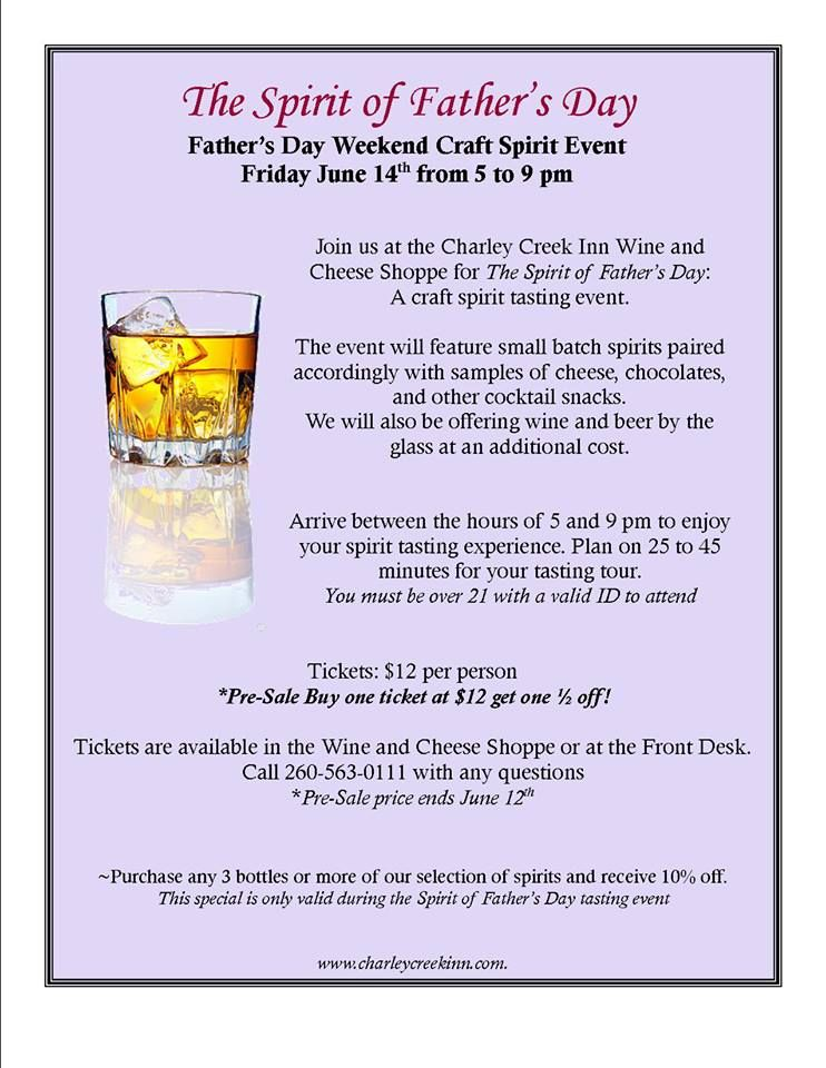 Father's Day Spirit Tasting, June 14, 2013