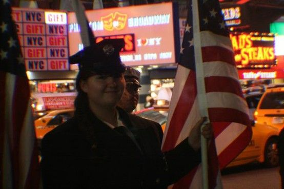 San Miguel/Heartland Fire Fighters from San Diego honored the fallen during a ceremony in Times Square on 9/11/11.
