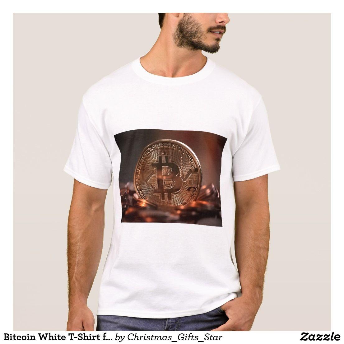 Bitcoin White T-Shirt for Men   Zazzle.co.uk   T shirt, Shirts, Mens tops