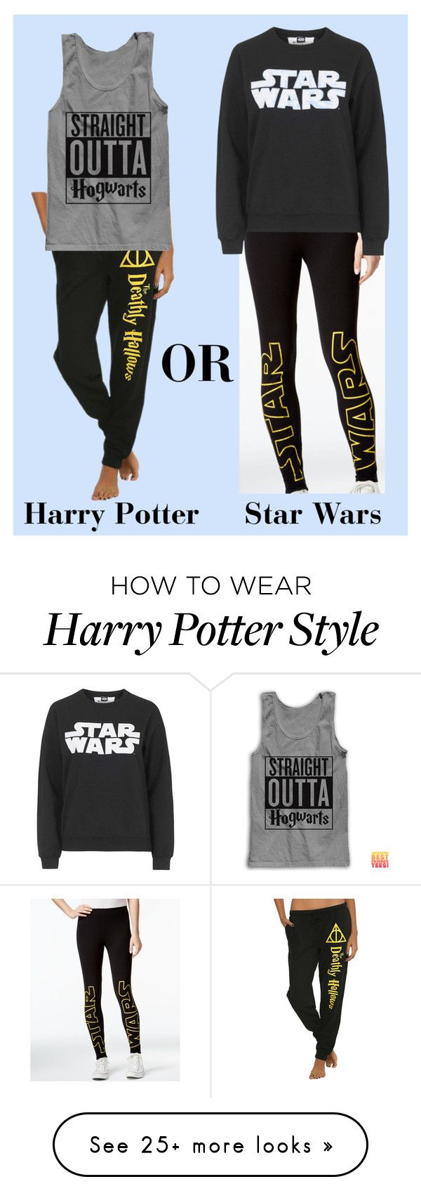 """Harry Potter or Star Wars!"" by forevercrazyfashiondivas on Polyvore featuring Hybrid, Topshop, women's clothing, women, female, woman, misses and juniors"