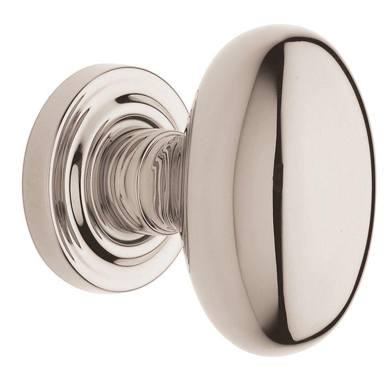 Baldwin Estate Polished Nickel Egg Style Door