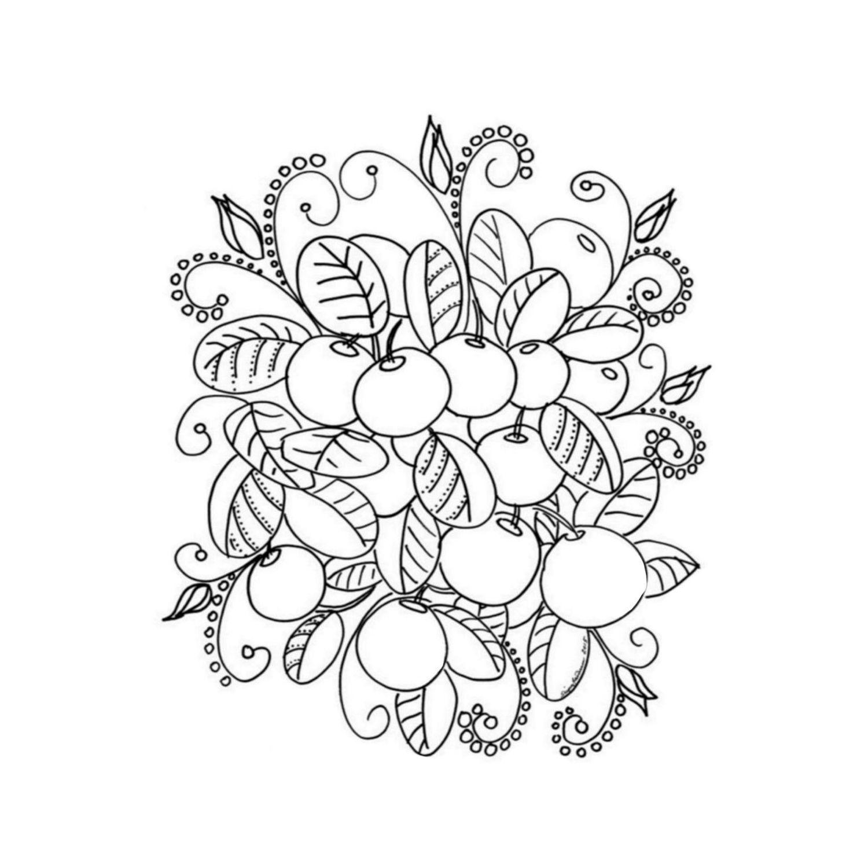 Värityskuva, koristetyynyliina
