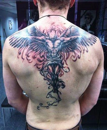 Tatuajes En La Espalda Para Hombres De Angeles