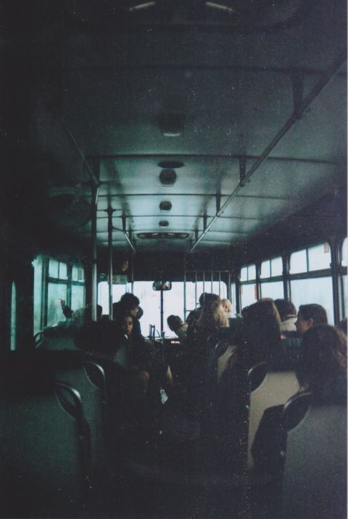 """""""Morning bus to school"""" __ (film) photo by author of .Creature Fear. tumblr"""